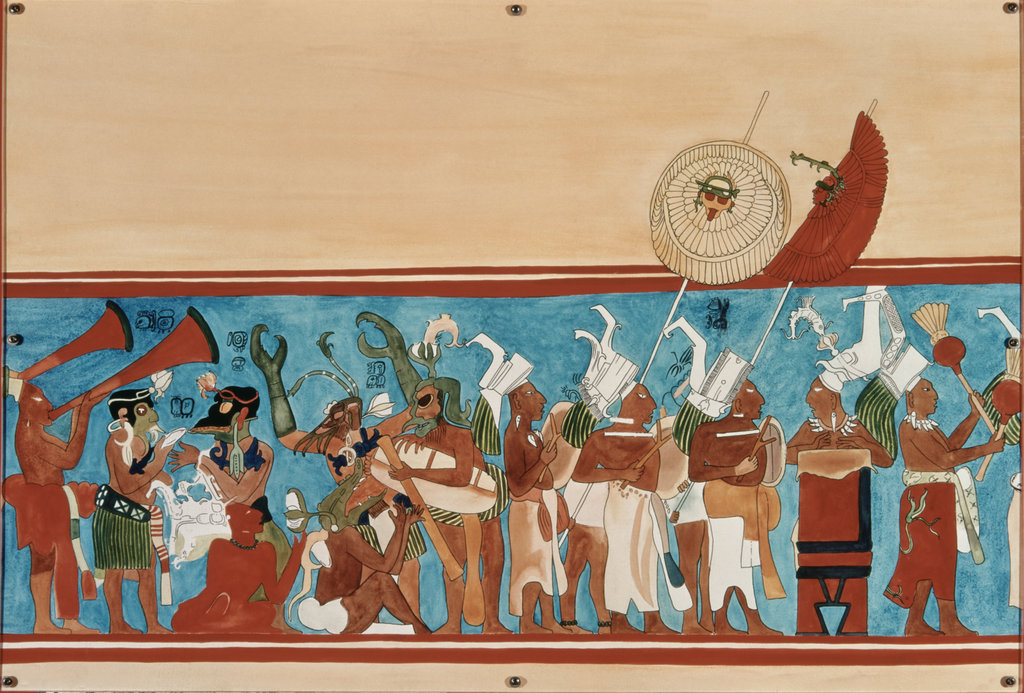 Stock Photo: 862-1793 Fresco from Temple of Bonampak