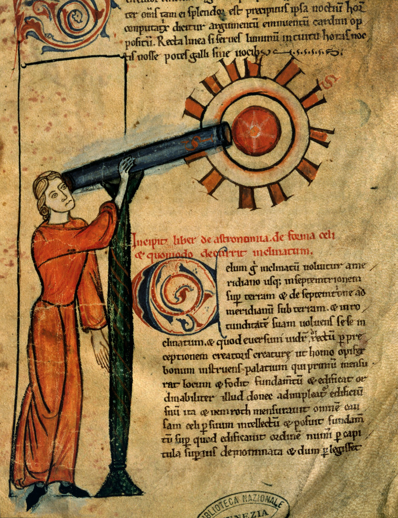 Stock Photo: 862-1804 Treatise On Astronomy 14th Century Manuscripts Biblioteca Marciana, Venice, Italy