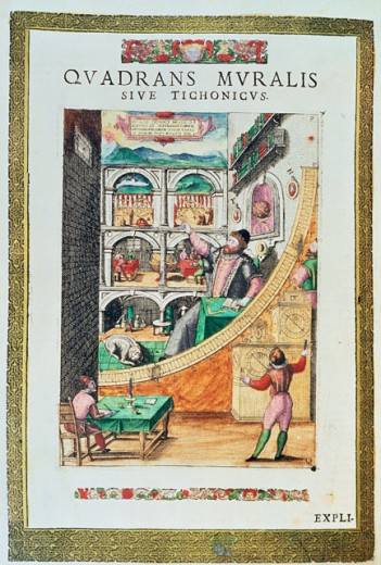 Stock Photo: 862-1811 Tycho Brahe In His Observatory From Tycho Brahe Astronomie Instaurate Mechanicae 599