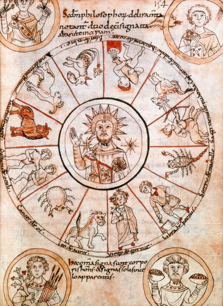 """Scholium de Duodecim Zodiaci Signis et de Ventis"" Manuscripts Bibliotheque Nationale, Paris : Stock Photo"