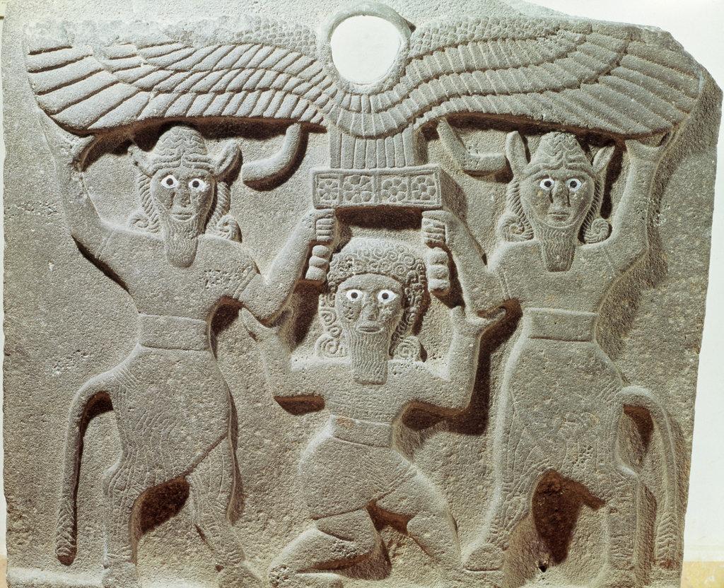 Stock Photo: 862-1822 Gilgamesh Syrio-Hittite Stele Near Eastern Art
