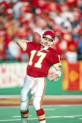 Dave Krieg, Quarterback, Kansas City Chiefs : Stock Photo