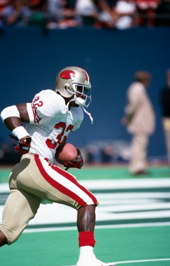 Stock Photo: 863-W143 Ricky Watters, Halfback, San Francisco 49ers