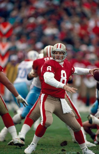 Stock Photo: 863-W146 Steve Young, Quarterback, San Francisco 49ers