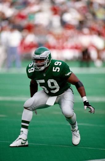 Seth Joyner Linebacker Philadelphia Eagles : Stock Photo