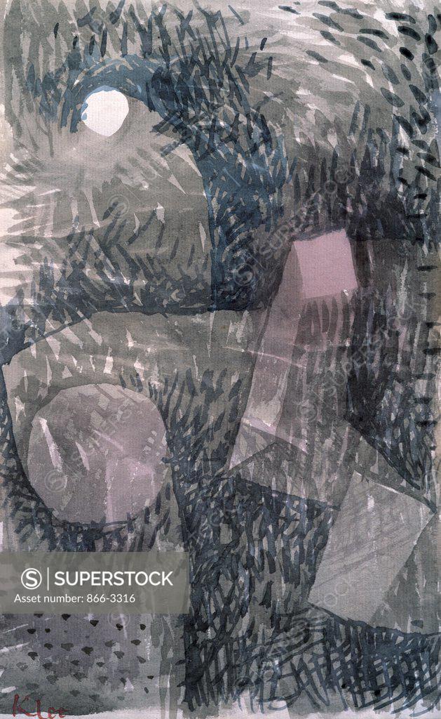 Stock Photo: 866-3316 Fundstelle Bei Mondschein by Paul Klee, ink on paper, 1934, (1879-1940), UK, England, London, Christie's