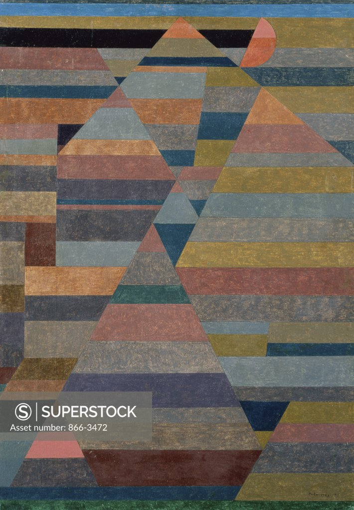Stock Photo: 866-3472 Nekropolis  1929 Paul Klee (1879-1940 Swiss) Oil on canvas