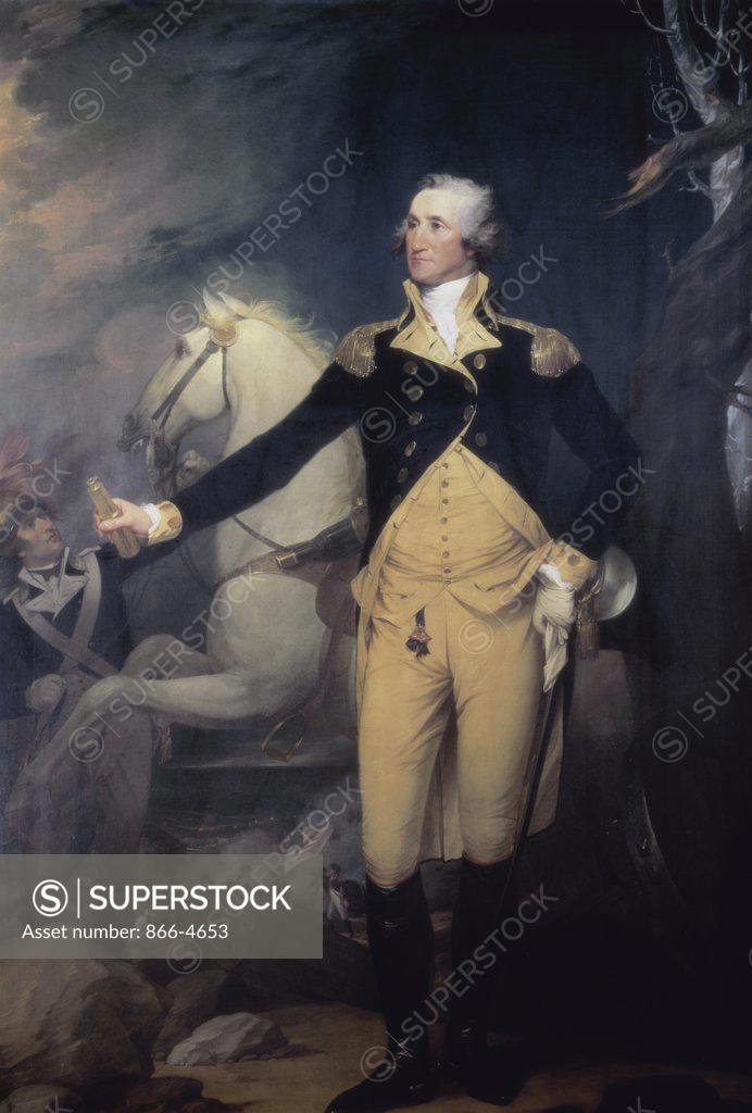 Stock Photo: 866-4653 Portrait of General George Washington 1792 Robert Muller (1773-1800/British)