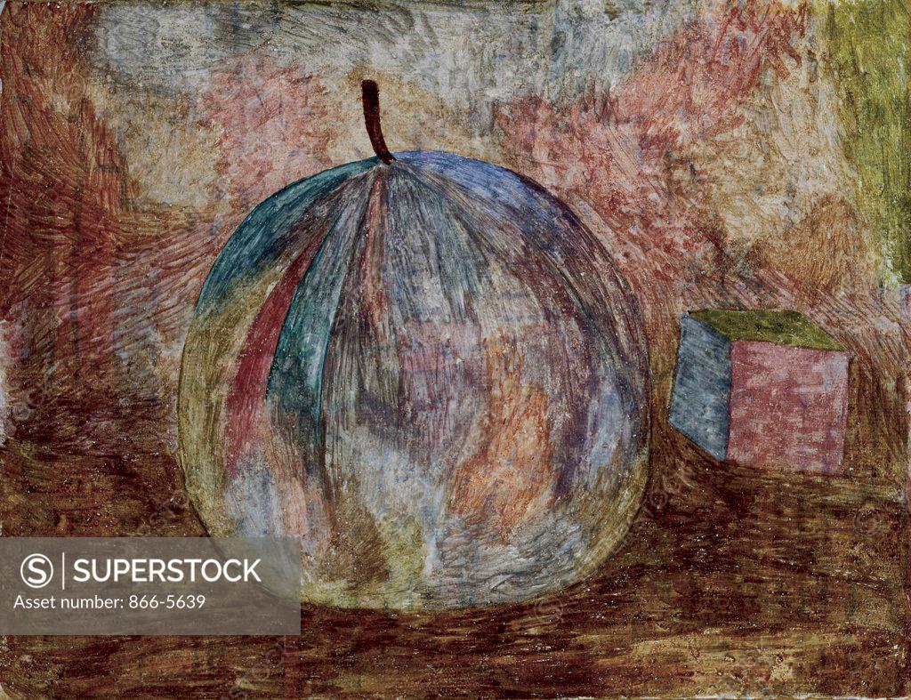 Stock Photo: 866-5639 Kunstliche Frucht(Recto) Paul Klee (1879-1940 Swiss) Watercolor & pencil on paper