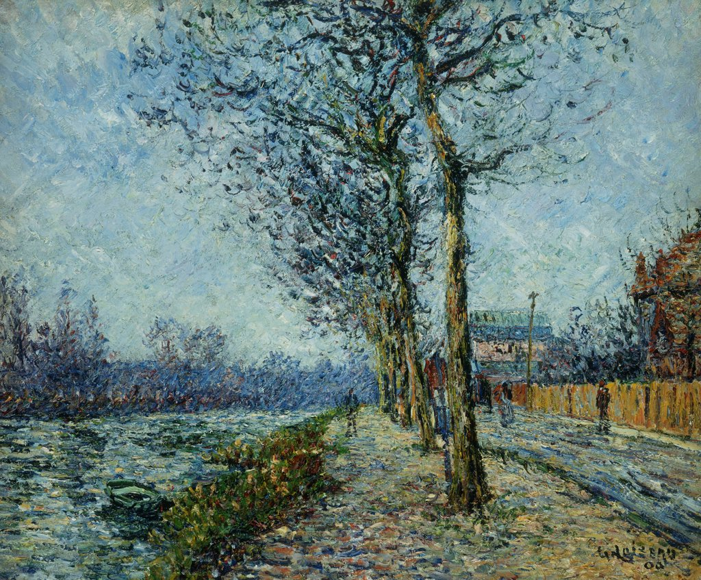 Stock Photo: 866-10559 The Oise at Pontoise; L'Oise a Pontoise. Gustave Loiseau (1865-1935). Oil on canvas. Painted in 1900. 54.6 x 65.7cm
