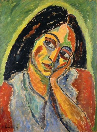 Stock Photo: 866-10763 Natali. Alexej von Jawlensky (1867-1941). Oil on board. Painted in Munich on the winter of 1911-12. 65 x 49cm. The sitter is Natali Pawlowskaja Petrowna, the daughter of a fur trader.
