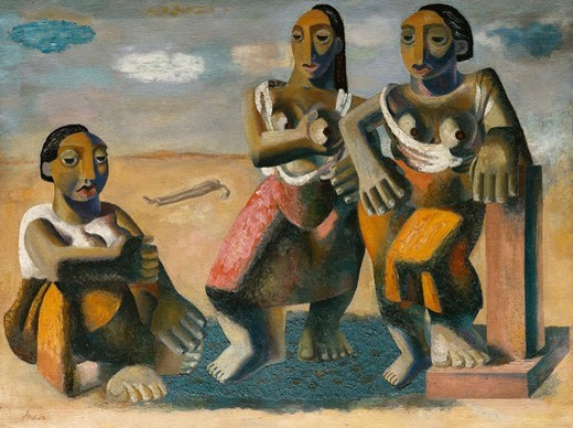 Stock Photo: 866-13166 Trojan Women. John Melville (1902-1986). Oil on canvas. 86.5 x 115.5cm.