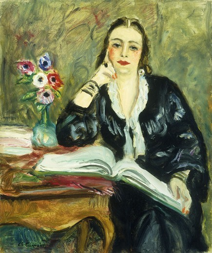 Portrait de Magdeleine Grey. Charles Camoin (1879-1965). Oil on canvas. Painted c. 1935. 55 x 46cm : Stock Photo