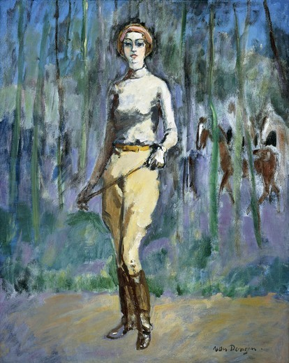 Stock Photo: 866-13993 L' Amazone.  Kees Van Dongen (1877-1968). Oil on canvas. Painted c. 1930. 100 x 80cm