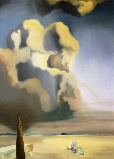 Stock Photo: 866-14145 The Spectre and the Phantom; Le Spectre et le Fantome.  Salvador Dali (1904-1989). Oil on canvas. Painted in 1934. 100 x 73cm.