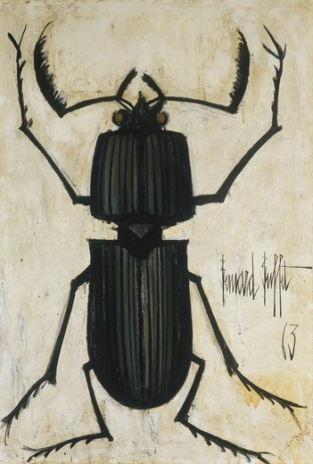 The Beetle; La Scarabee. Bernard Buffet (1928-1999). Oil on canvas. Painted in 1963. 130 x 89cm. : Stock Photo