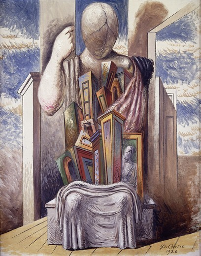 Stock Photo: 866-14442 Seated Manikin; Manichino Seduto. Giorgio de Chirico (1888-1978). Oil on canvas. Signed and dated 1926. 92 x 72.4cm.