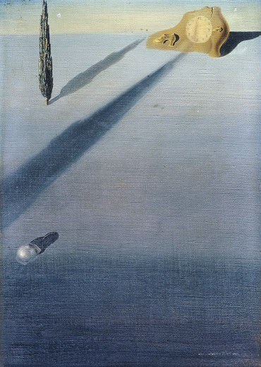 Le Sentiment de la Vitesse. Salvador Dali (1904-1989). Oil on canvas. Painted in 1934. 33 x 24cm. : Stock Photo