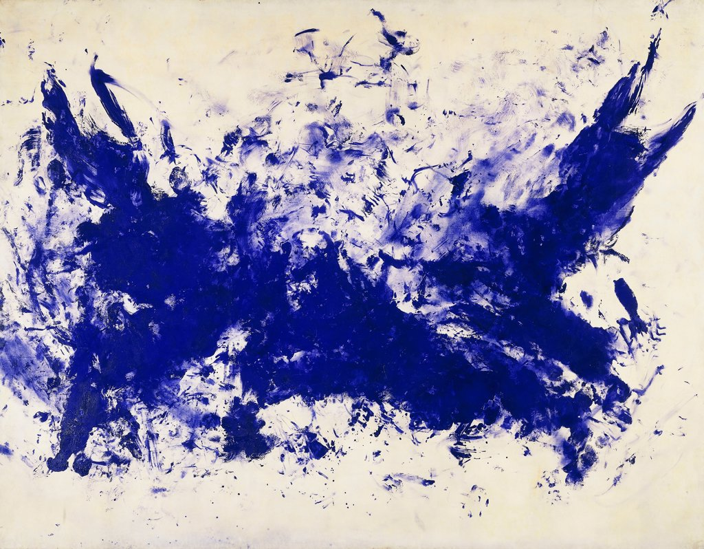 the grand battle la grande bataille ant 103 yves klein 1928 1962 blue pigment on paper. Black Bedroom Furniture Sets. Home Design Ideas