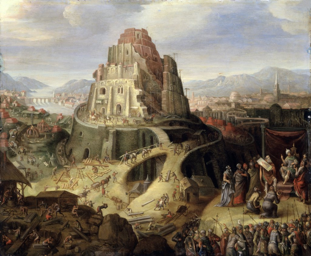 Stock Photo: 866-3040 The Tower of Babel 