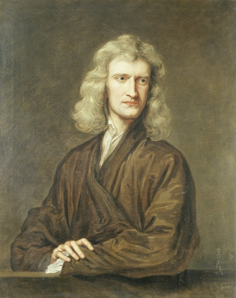 Stock Photo: 866-3071 Portrait of Sir Isaac Newton