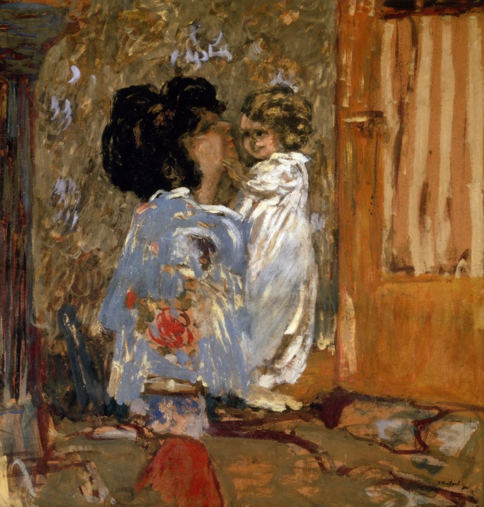 Mother and Child by Edouard Vuillard, painting, (1868-1940), UK, England, London, Christie's : Stock Photo