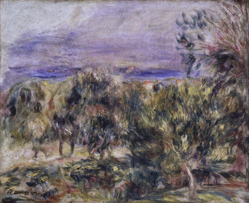 Stock Photo: 866-3125 Cagnes Landscape