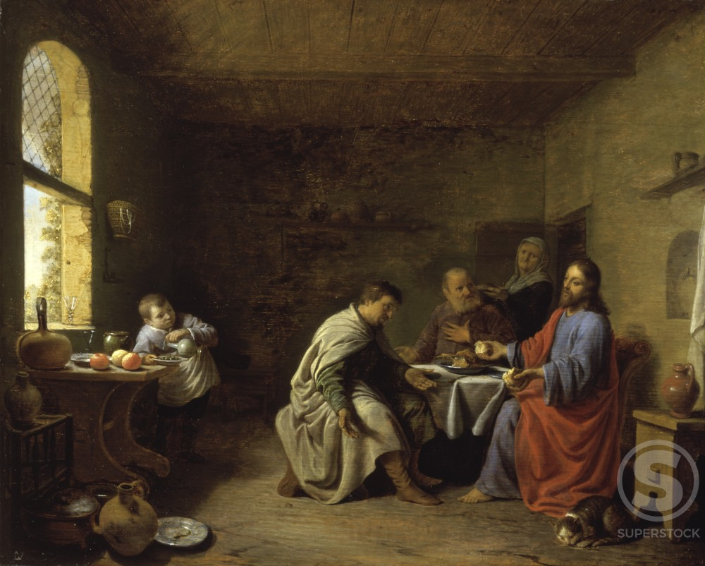 Stock Photo: 866-3126 The Supper at Emmaus