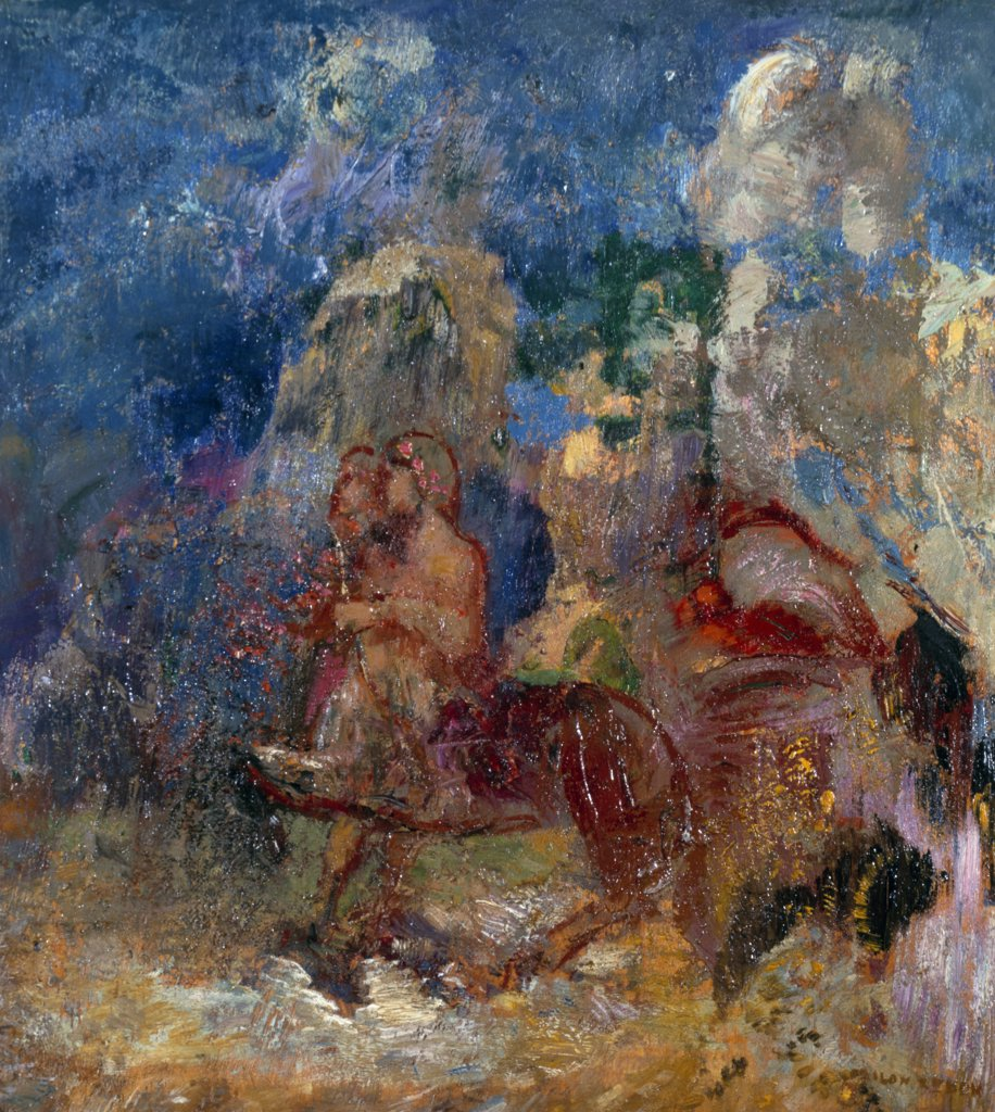 Centaurus by Odilon Redon, oil on wood panel, (1840-1916), UK, England, London, Christie's : Stock Photo