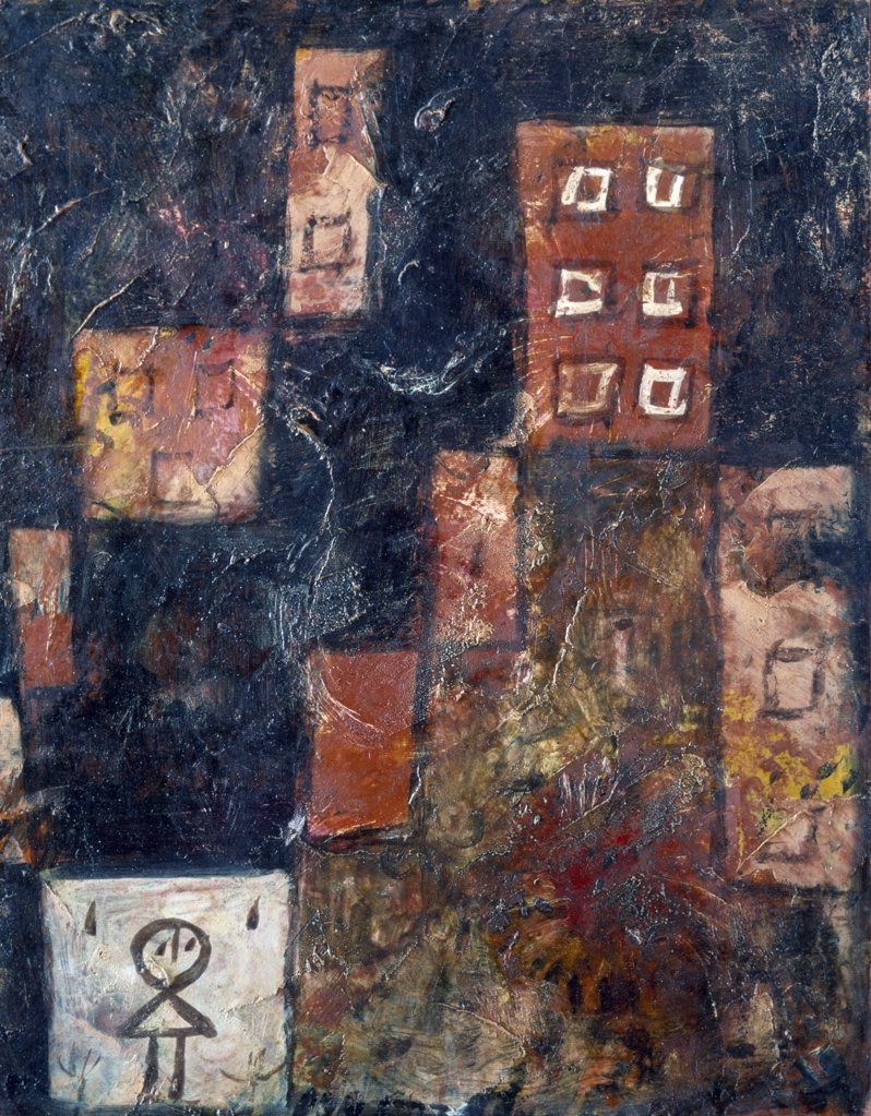 Stock Photo: 866-3165 Hausertreppe by Paul Klee, 1923, oil on canvas, (1879-1940), UK, England, London, Christie's