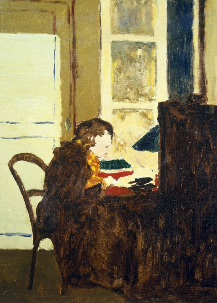 Stock Photo: 866-3289 Ms Vuillard at office by Edouard Vuillard, England, London, Christie's Images