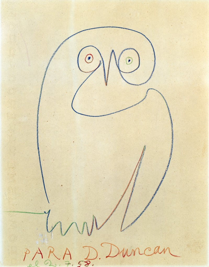 L'Hibon, Pablo Picasso, crayon drawing, (1881-1973), UK, England, London, Christie's : Stock Photo