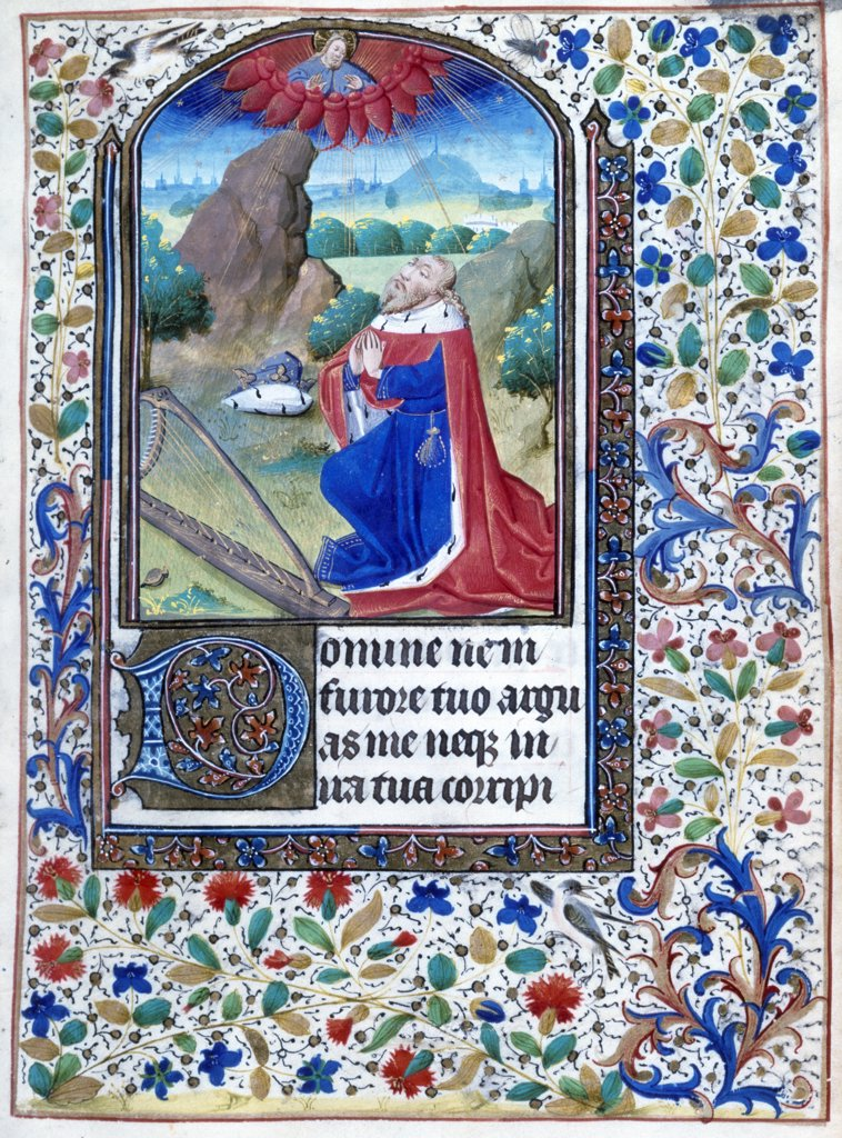 Stock Photo: 866-3332 Page From Book of Hours, illuminated manuscript, 1460, 15th century, UK, England, London, Christie's