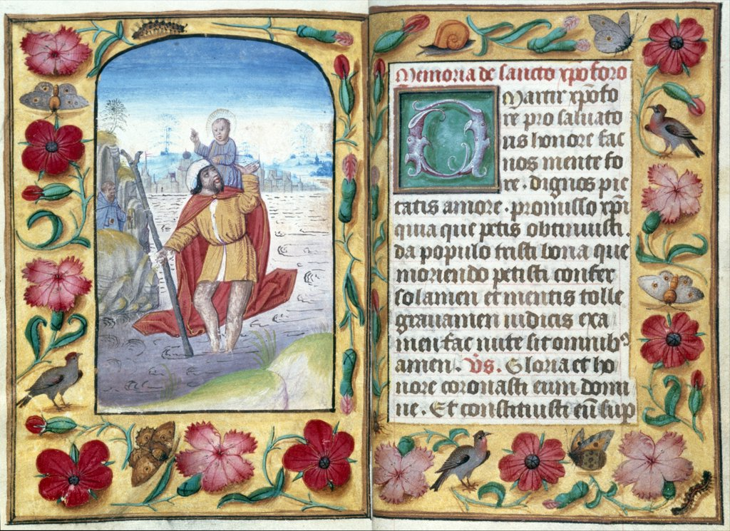 Stock Photo: 866-3333 Horae Bvm in Latin by Ghent or Bruges, manuscript, UK, England, London, Christie's