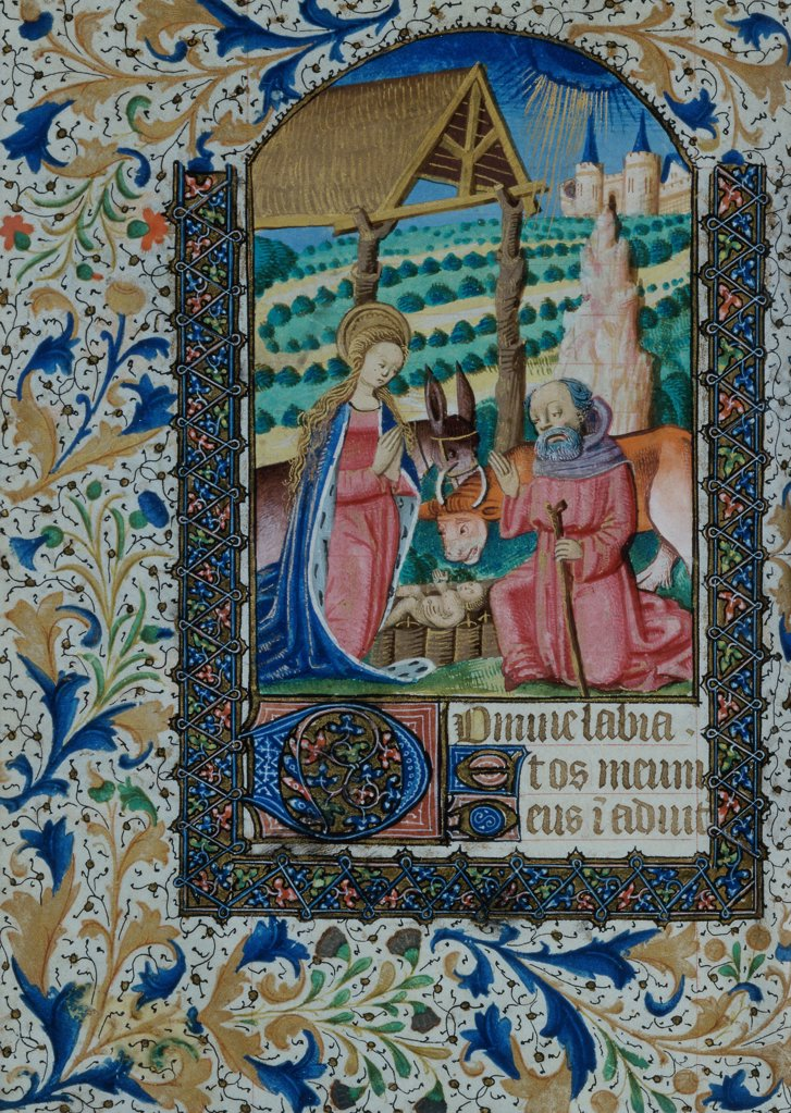 Stock Photo: 866-3336 Horae BMV Loire Valley c.1470 Illuminated Manuscript Christie's, London, England