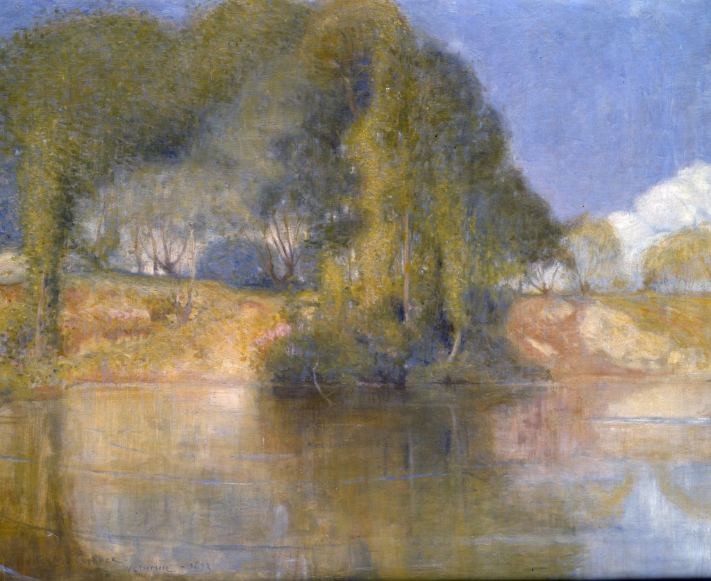 Stock Photo: 866-3361 Vetheuil, 1893 by Charles Conder, oil on canvas, (1869-1909), UK, England, London, Christie's