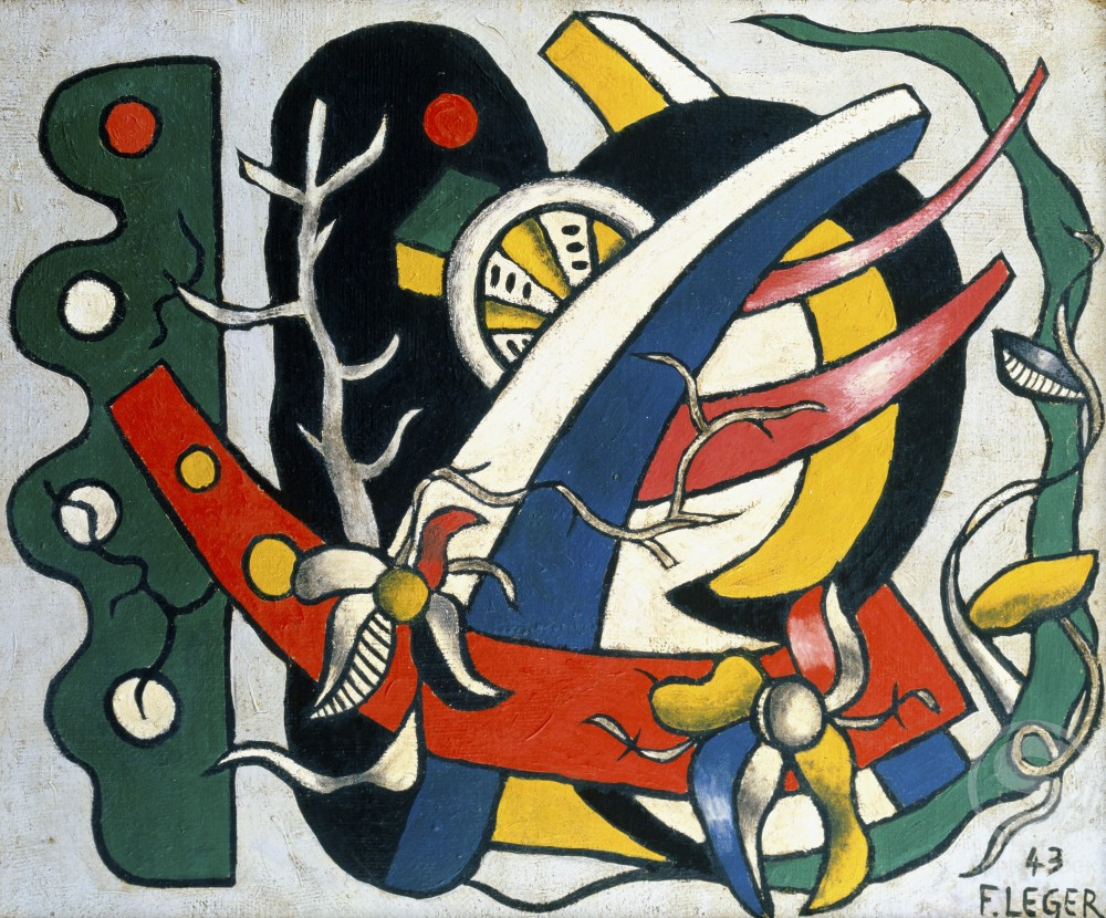 Stock Photo: 866-3376 Fleurs dans Element Mecanique