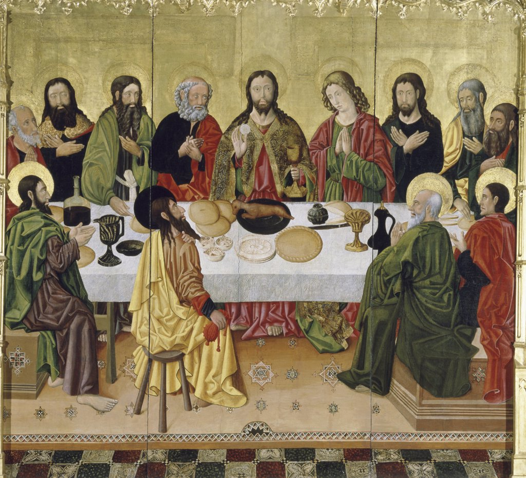 Stock Photo: 866-3443 The Last Supper The Perea Master Oil on Canvas