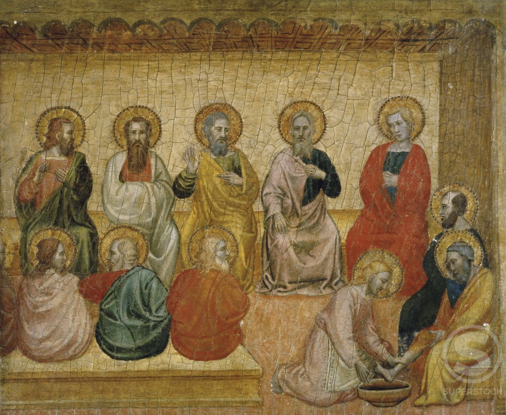 Stock Photo: 866-3445 Christ Washing the Disciples' Feet