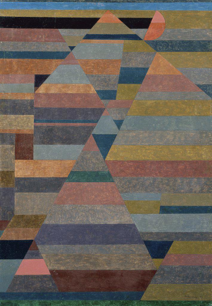 Stock Photo: 866-3472 Nekropolis  1929 Paul Klee (1879-1940 Swiss) Oil on canvas