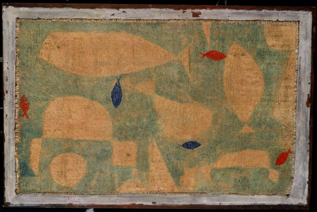 Stock Photo: 866-3474 Mast und Zierfische  Paul Klee (1879-1940 Swiss)  Oil on burlap Christie's Images, London, England