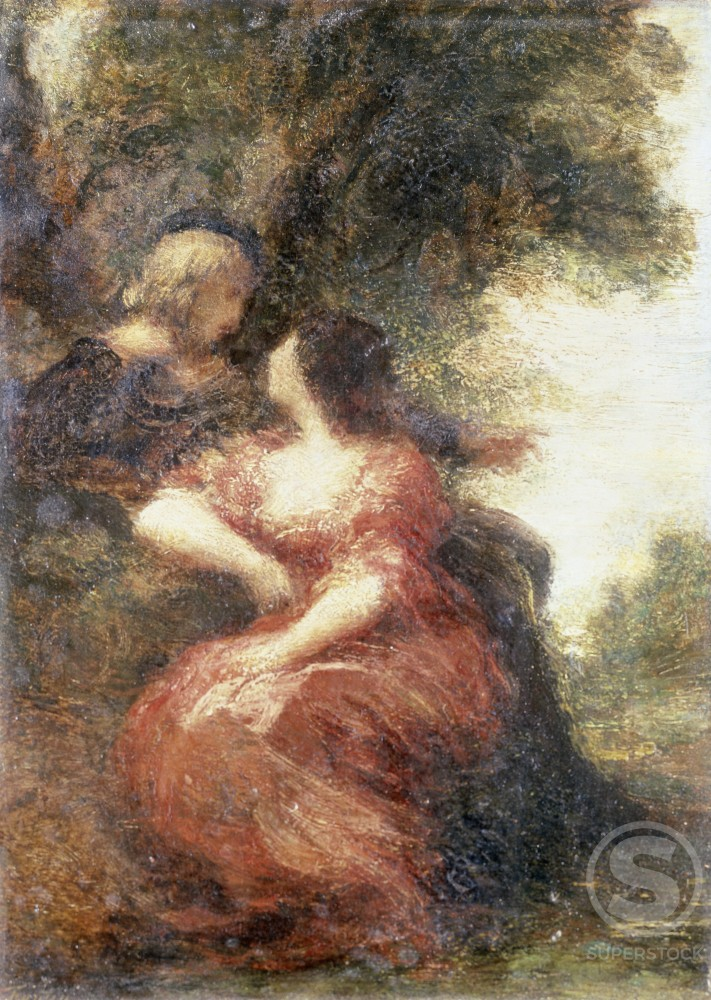 Stock Photo: 866-3523 Troubadour and his Lady 