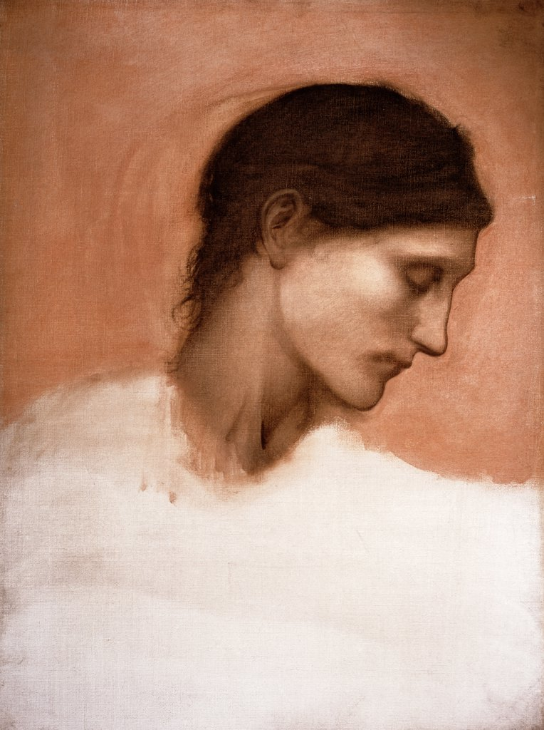 Stock Photo: 866-3549 Study of a Girl's Head