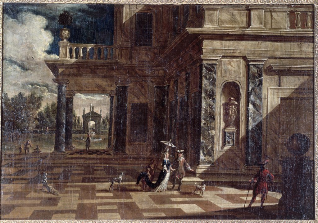 Stock Photo: 866-3557 Architectural Capricci With Figures 