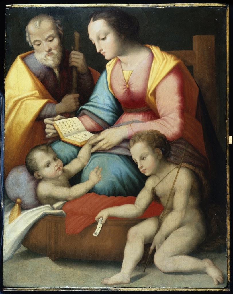 Stock Photo: 866-3582 Holy Family with the Infant Saint John the Baptist 