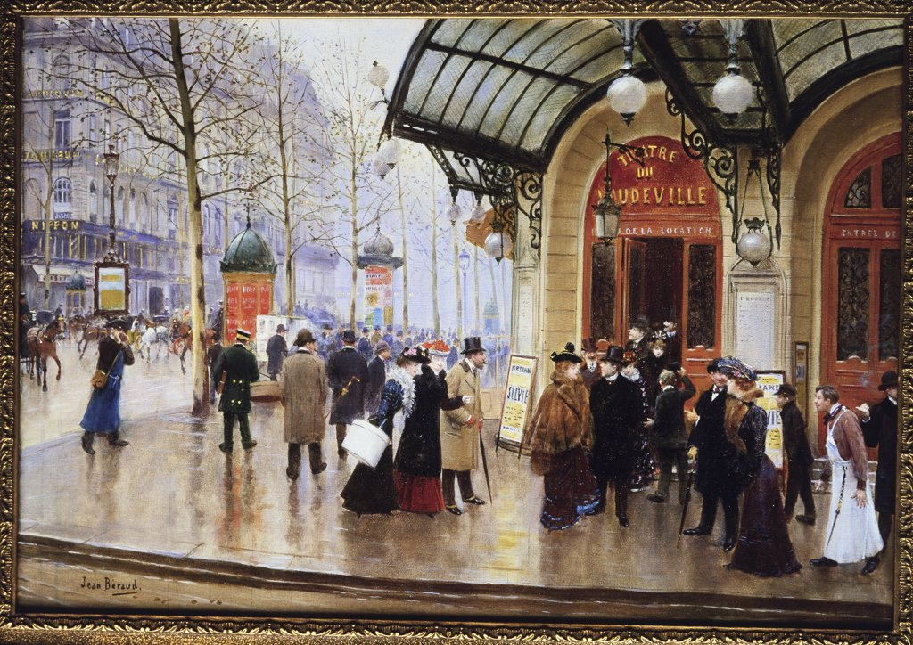 Stock Photo: 866-3597 Outside of the Theatre du Vaudeville, Paris 