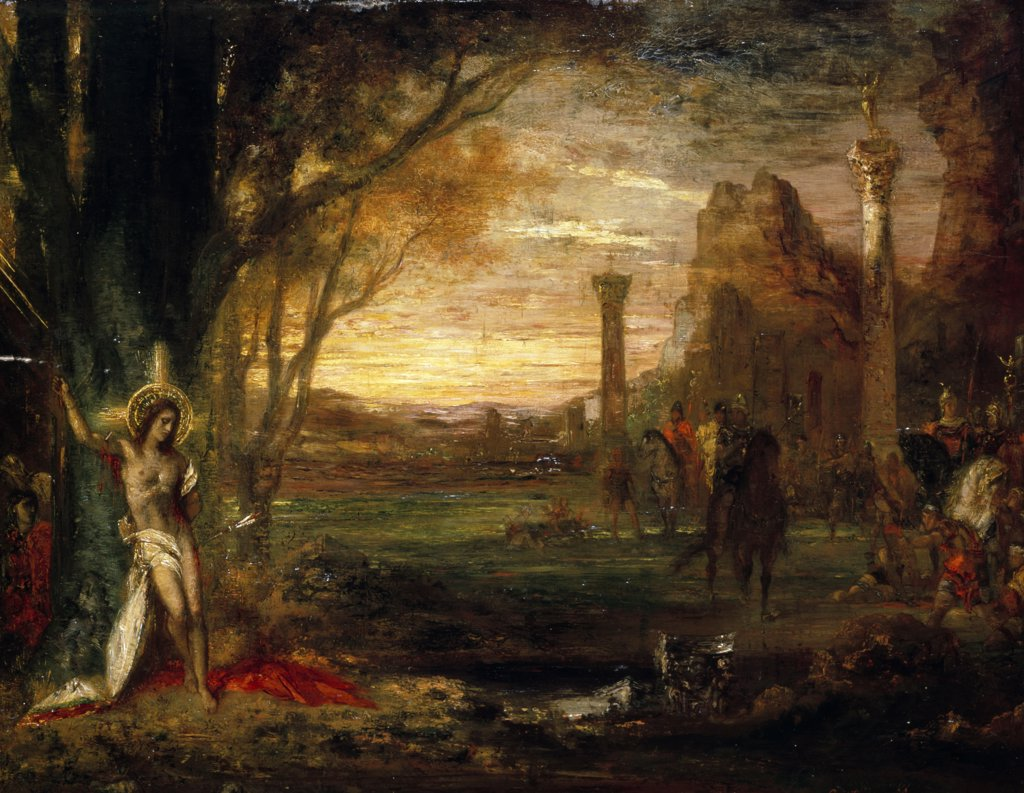 Stock Photo: 866-3695 Saint Sebastian and his Executioners, by Gustave Moreau, (1826-1898), England, London, Christie's Images