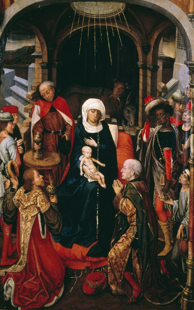The Adoration of the Kings, by Vrancke Van Der Stockt, England, London, Christie's Images : Stock Photo
