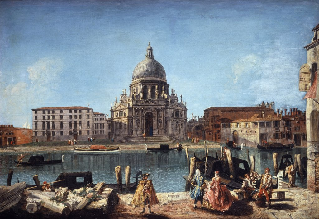 Stock Photo: 866-3719 Santa Maria della Salute from the Rio di San Moise, Venice