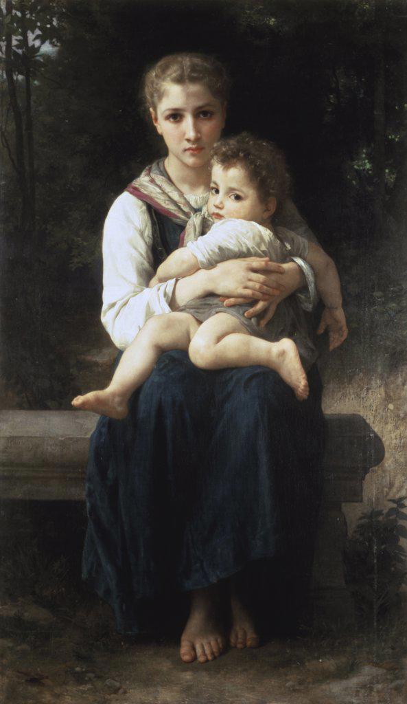 Stock Photo: 866-3791 Les Deux Soeurs William-Adolphe Bouguereau (1825-1905 French) Christie's Images, London, England